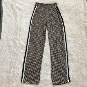 Zara Woman Jogger Pants Geo Print Racing Stripe XS